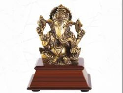 Lord Ganesh Wood & Metal