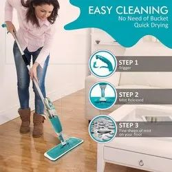 Mozabee Sponge Healthy Spray Mop, For Floor Cleaning, Size: Free