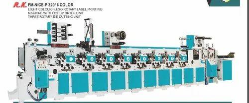 FLEXO ROTARY LABEL PRINTING MACHINE