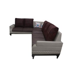 Wooden (Frame) Modern Corner L Shape Sofa Set, For Home