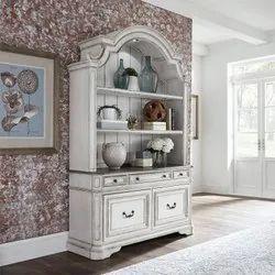 White 2 Door Wooden Designer Almirah