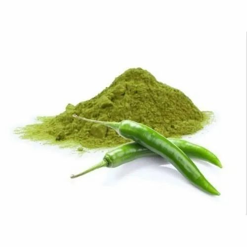Dehydrated Green Chilly Powder,Packaging: 40 kg