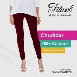 4 Way 150+ colours Fitwel Churidar plain ladies Cotton Leggings, Size: Free Size