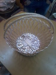 Multipurpose Storage and Gifting Wicker Handle Basket