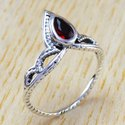 925 Sterling Silver Jewelry Garnet Stone New Fashion Ring Wr-6299