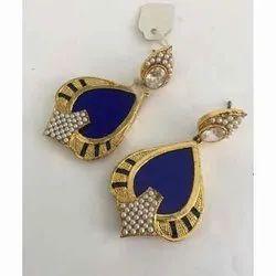 Brass Ladies Fancy Artificial Earrings