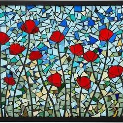 Polished Decorative Printed Stained Glass, For Decoration, Thickness: 5 Mm