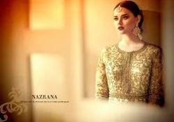 Silk Green Nazrana Arihant Designer Anarkali Dress Material
