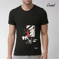 Casual Wear Biowash Cotton Half Sleeve Printed T-Shirt