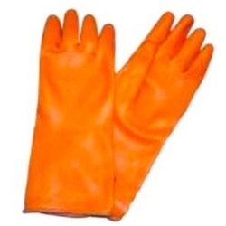 Unisex Plain Heavy Duty Rubber Gloves, Finger Type: Full Fingered