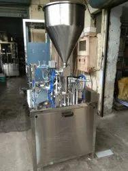 Automatic Yogurt Cup Filling And Foil Sealing Machine