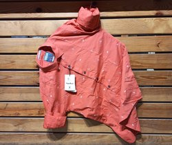 Orange Printed Festival Wear Cotton Fabric Mens Wear Stylish Shirt, Size: M-XXL