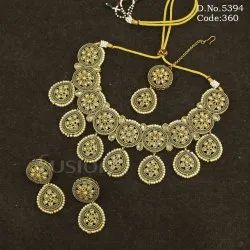 Mehendi Polish Reverse AD Beaded Necklace Set