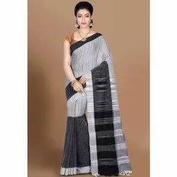 Casual Wear Handloom Pure Cotton Printed Saree, Without Blouse, 6.3 m