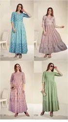 Heavy Cotton Ladies Wear Kurti