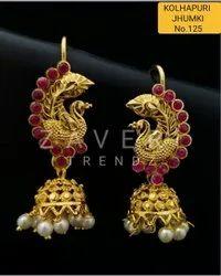 125 Gold Plated Fashion Jhumki