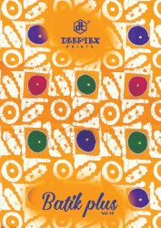 Multicolor Unstitch Deeptex Batik Plus Vol.10, Handwash