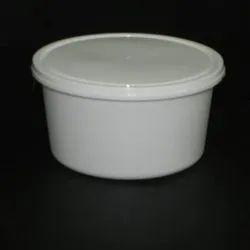 Round White Plastic Food Container, Capacity: 250 ml