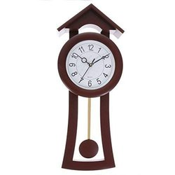 Analog Plastic Handicraft Pendulum Wall Clock, For Home, Model Name/Number: Wall_0018