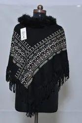 PU80 Woolen Poncho