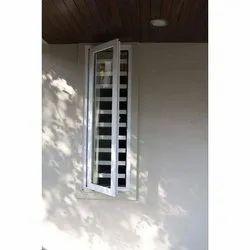 White UPVC Hinged Window