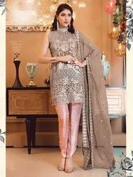 PR FASHION STRAIGHT SUIT WITH DUPATTA