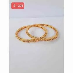 Party Wear Kundan S 205 Ladies Brass Painted Bangles