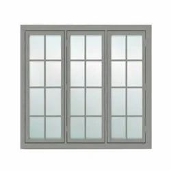 Modern Gray(Frame) Cabins CAB-111 TATA GALVANO Steel Windows, For Residential, Size/Dimension: 150 X 140 Cm