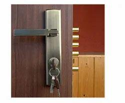 Zinc Alloy Door Handle With Lever Lock, For Security