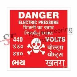 Danger Warning Panel Stickers