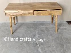 HV Square Wooden Table With 2 Drawer, For Home