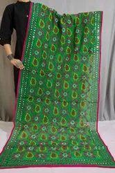 Multicolored Hand Embroidered Phulkari Dupatta