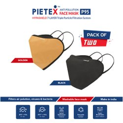 PIETEX Cotton Hypa Shield P95 Reusable Outdoor Protection Mask