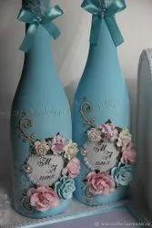 Sky Blue 1 L Decorative Glass Bottles