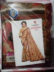 Sadashiv Print Saree, Italian Silk, Price - 450/Pcs, 6 m (With Blouse Piece)