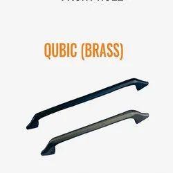Qubic Brass Cabinet Handle