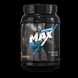 1KG Chocolate Flavor The High Calorie Gainer Muscle Axe Max Mass Gainer Powder