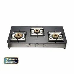 Black Stainless Steel Lorenzo 3B Glass Cooktop