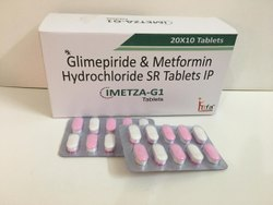 Metformin 500mg,Glimepiride 1mg Sustained Release Tablets