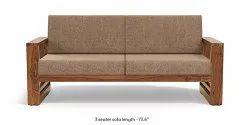HV European Wooden 2 Seater Sofa, For Hotel, Living Room