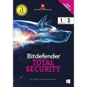 Bitdefender Total Security 1pc 3year, For Windows