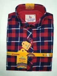 Teen Studio Mens Collar Neck Check Shirt, Machine wash