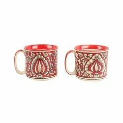Ceramic Printed Tea Mug, Capacity: 100 Ml