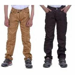 Plain Kids Cotton Pants