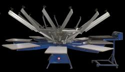 SCREEN PRINTING MACHINE WITH FLASHER