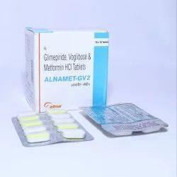 Glimepride 2 Mg. Metformin 500 Mg. Voglibose 0.2 Mg