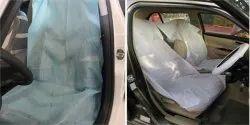 4 Wheeler Blue Non Woven Disposable Car Seat Cover