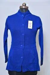 Blue Ladies Woolen Jackets