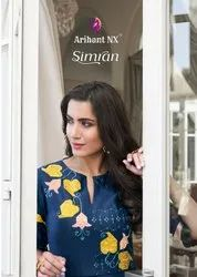 Arihant NX Simran Silk Long Party Wear Gown Type Kurti Catalog