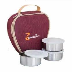 ZANELUX -3 STEEL LUNCH BOX